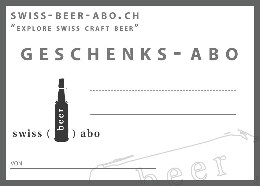 Geschenk Swiss Beer Aboch